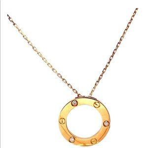 Cartier 3 diamonds necklace yellow gold